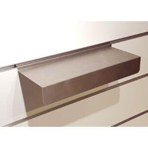 Cipőtartó alusínes panelba, rozsdamentes szálcsiszolt, 300 x 110 x 45 mm