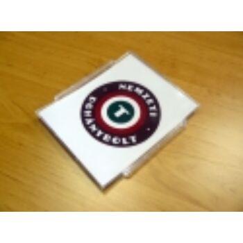 Pénzvisszaadó tálca, Nemzeti Dohánybolt papírral, 138 x 160 x 11 - 4 mm