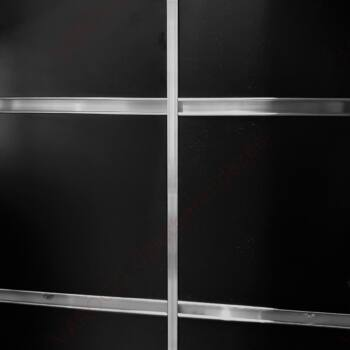 Alumínium sínes panel, 15 cm-es síntávolsággal, FEKETE, 120 x 240 cm