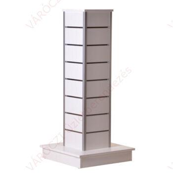 Hasáb gondola, 15 cm osztású, FEHÉR alusínes panelből, szögletes alumínium élzárással
