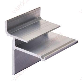 Polctartó panelba, 8 mm-es ÜVEGLAPHOZ