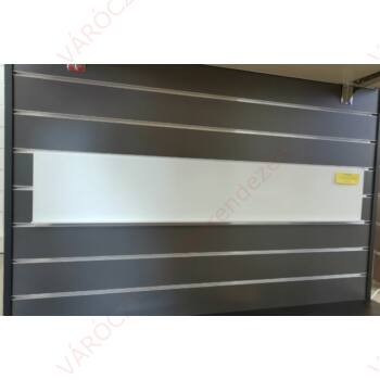 DVD tartó alusínes panelba, szinterezett FEHÉR 1100 x 190 mm (16 mm belső)
