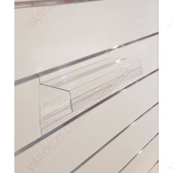 Cipőtartó panelba, PLEXI, 243 x 105 mm, árcímketartóval