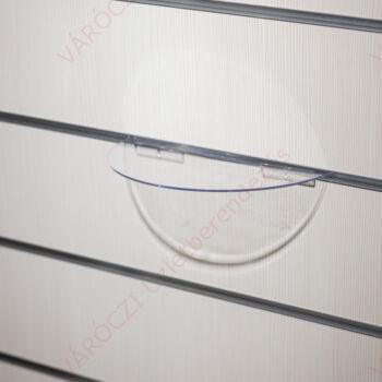 Cipőtartó panelba, PLEXI FÉLKÖRÍV 240x120 mm