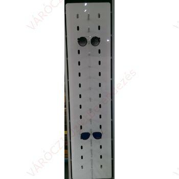 Szemüvegtartó LED háttérvilágítással plexi 15 férőhelyes, egysoros, fali