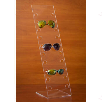 Szemüvegtartó, 10 férőhelyes, 180x700 mm