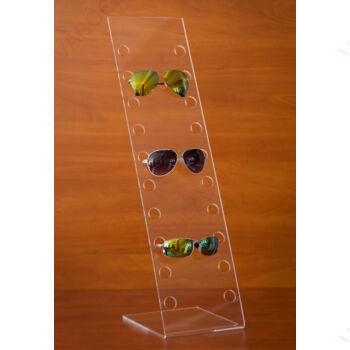 Szemüvegtartó, 10 férőhelyes, 180 x 700 mm, asztali