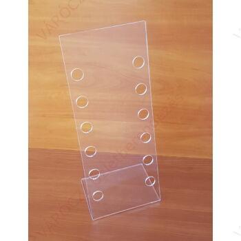 Szemüvegtartó 6 férőhelyes, 180 x 460 mm, asztali