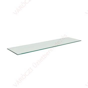 Üveglap polc, 4 oldalon körbecsiszolt, 6 mm-es, 1200 mm széles, több méretben