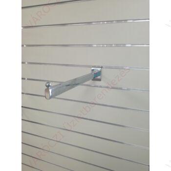 Egyenes vállfatartó panelba, 380 mm, KRÓMOZOTT