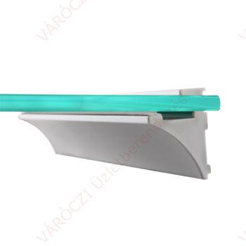 Fali polctartó profil, alumínium, gumi tömítéssel, 8 mm vastag üveglaphoz, 900 mm