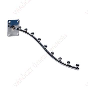 Hullámos vállfatartó, falra csavarozható 9 férőhelyes (400 mm)