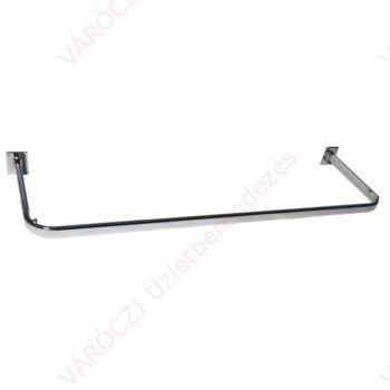 Vállfatartó falra csavarozható, U alakú, hajlított, stiftes, 900 mm