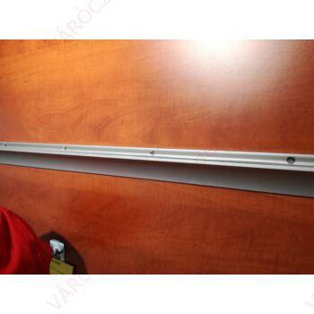 Fali polctartó profil, alumínium, gumi tömítéssel, 8 mm vastag üveglaphoz, Egyedi méretre