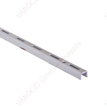 Metall egysoros falisín 50-200 cm, EZÜST, 50 mm osztással