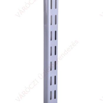 Metall kétsoros falisín, 8-224 cm, EZÜST
