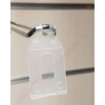 Árcímketartó tok, 25 x 30 mm-es címkéhez, 10 db/csomag