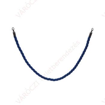 Kordonkötél, 150 cm, sötétkék, 2 db akasztós kötélvéggel