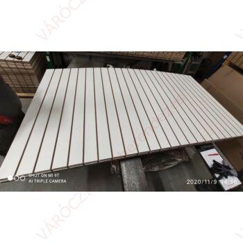 SÉRÜLT alusínes panel, 10 cm-es osztással, FEHÉR, 1200 x 2400 mm