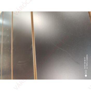 SÉRÜLT alusínes panel, 15 cm-es osztással, FEKETE, 1200 x 2400 mm