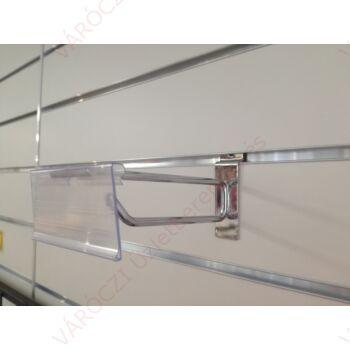 Árjelzős szimpla kampó panelba, 200 mm KRÓMOZOTT
