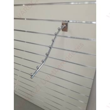 Hullámos vállfatartó alusínes panelba, 9 férőhelyes, 380 mm