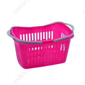 Bevásárlókosár, 21 literes rózsaszín KÉTFÜLES 480 x 280 x 240 mm, RENDELÉSRE