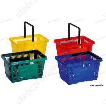 Bevásárlókosár, 28 literes, többféle színben