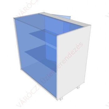 Pultvitrin, üvegajtós, 50 cm széles pult