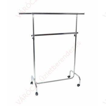 Ruhatartó sztender, 2 szintes, állítható magasságú (hossz: 1000 mm)