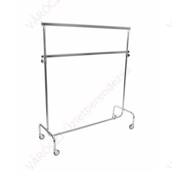 Ruhatartó sztender, 2 szintes, szintenként állítható magasságú (hossz: 1400 mm)