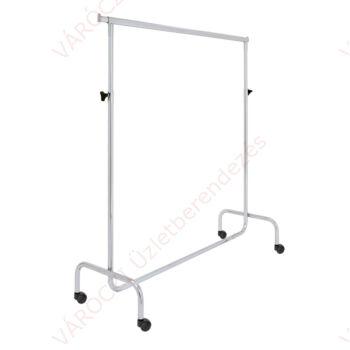 Ruhatartó sztender 50 mm bútorgörgővel,  állítható magasságú, szorítócsavaros (hossz: 1400 mm)