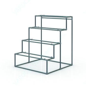 HYDRO DESIGN, árukiemelő sztender, 4 emeletes