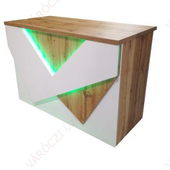2020/1 Design Pult, FEHÉR-WOTAN tölgy színben, világítással, 1036x1504x736 mm