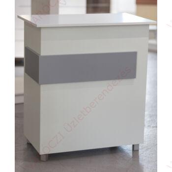 PC pult, FEHÉR-EZÜST,1000 x 550 x 900 mm