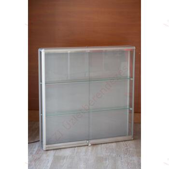 Alumínium keretes fali vitrin,1000x250x1000 mm, Többféle színben és kivitelben