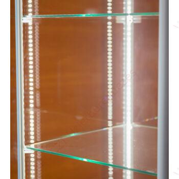 LED világítás vitrinbe, függőlegesen elhelyezett alumínium profilba épített, (10 Watt)